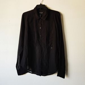 Obey sheer button up shirt